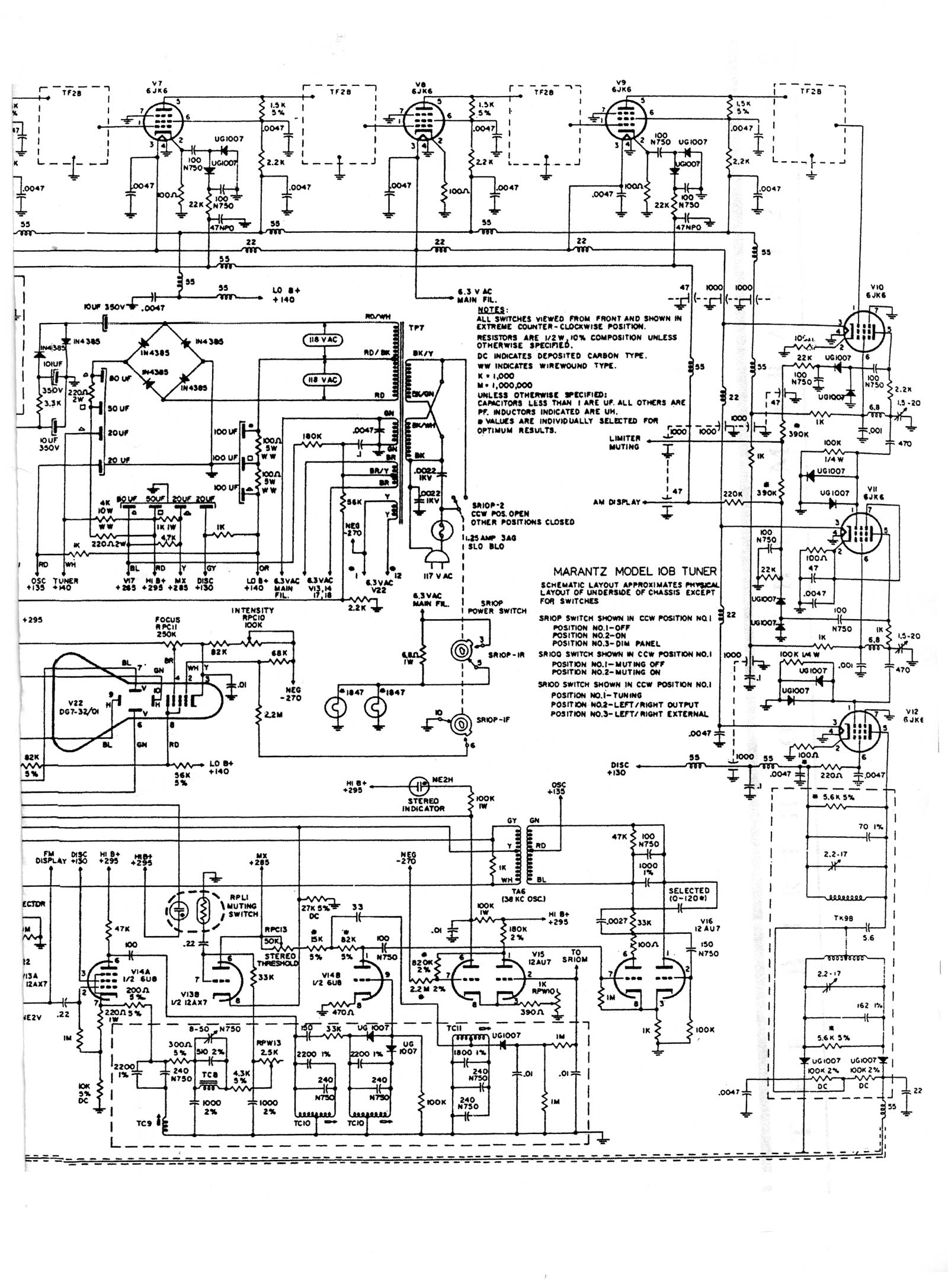 tuner information center marantz tuners RF Transmitter and Receiver Circuit Diagram marantz 10b 1964 650 photo schematic1 schematic2