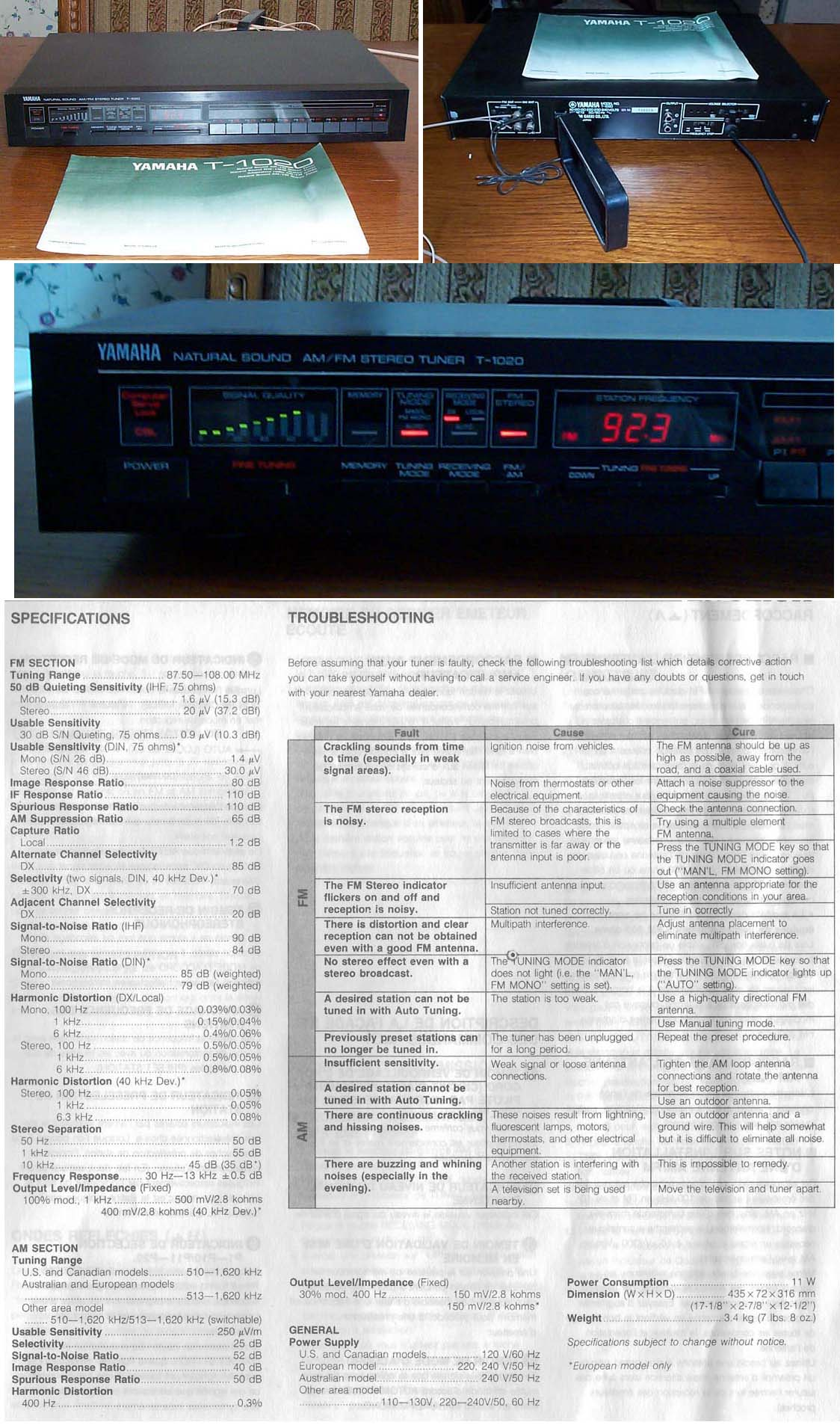 Tuner Information Center Yamaha Tuners Diagram D Audio For 410 Rooms Using A Second Stereo Receiver The Very Common T 1020 Is Black Digital That Was In Yamahas Line Behind Superb 85 It Has Electronic Equivalent Of 4 Gangs