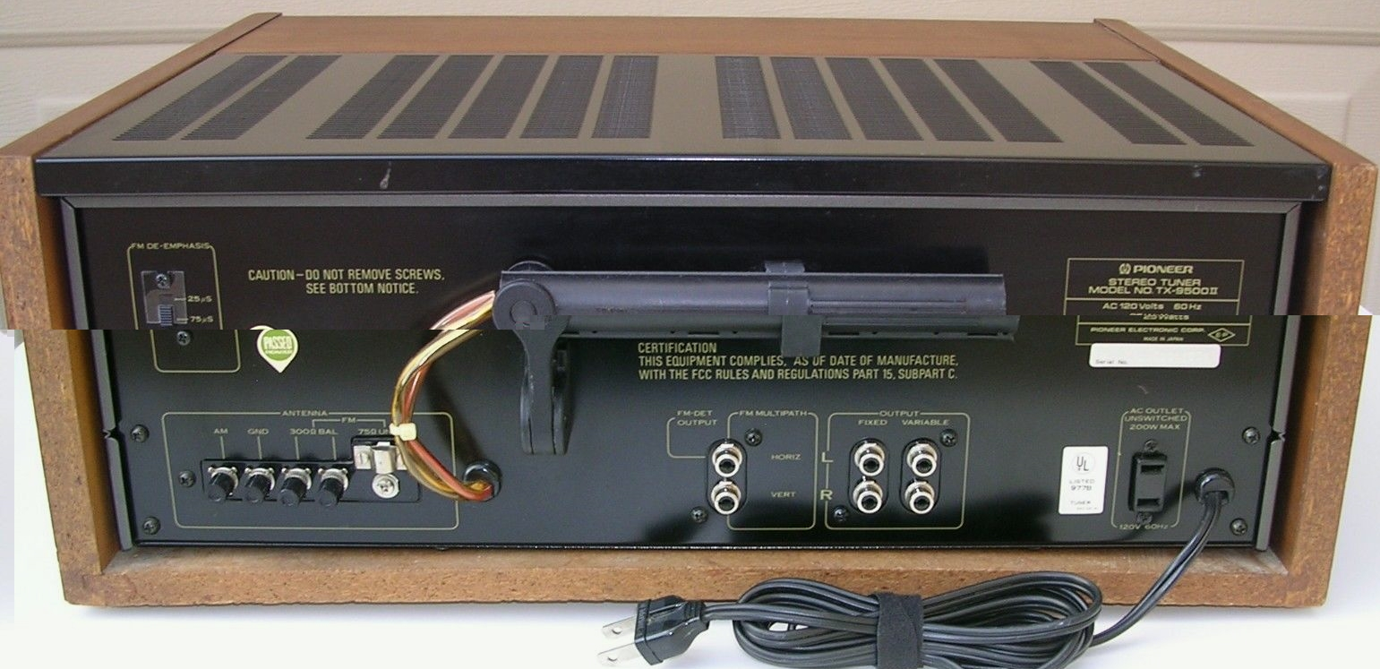 Tuner Information Center Pioneer Tuners Super 3 Wiring Diagram In Addition Schematic Audio Tx 9500ii 1977 400 Front Back