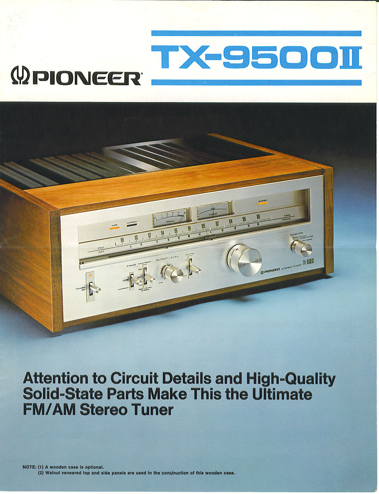 Tuner Information Center Pioneer Tuners Super 3 Wiring Diagram In Addition Schematic Audio Tx 9500ii 1977 400 Front Back Inside With Amp Ad 1 2