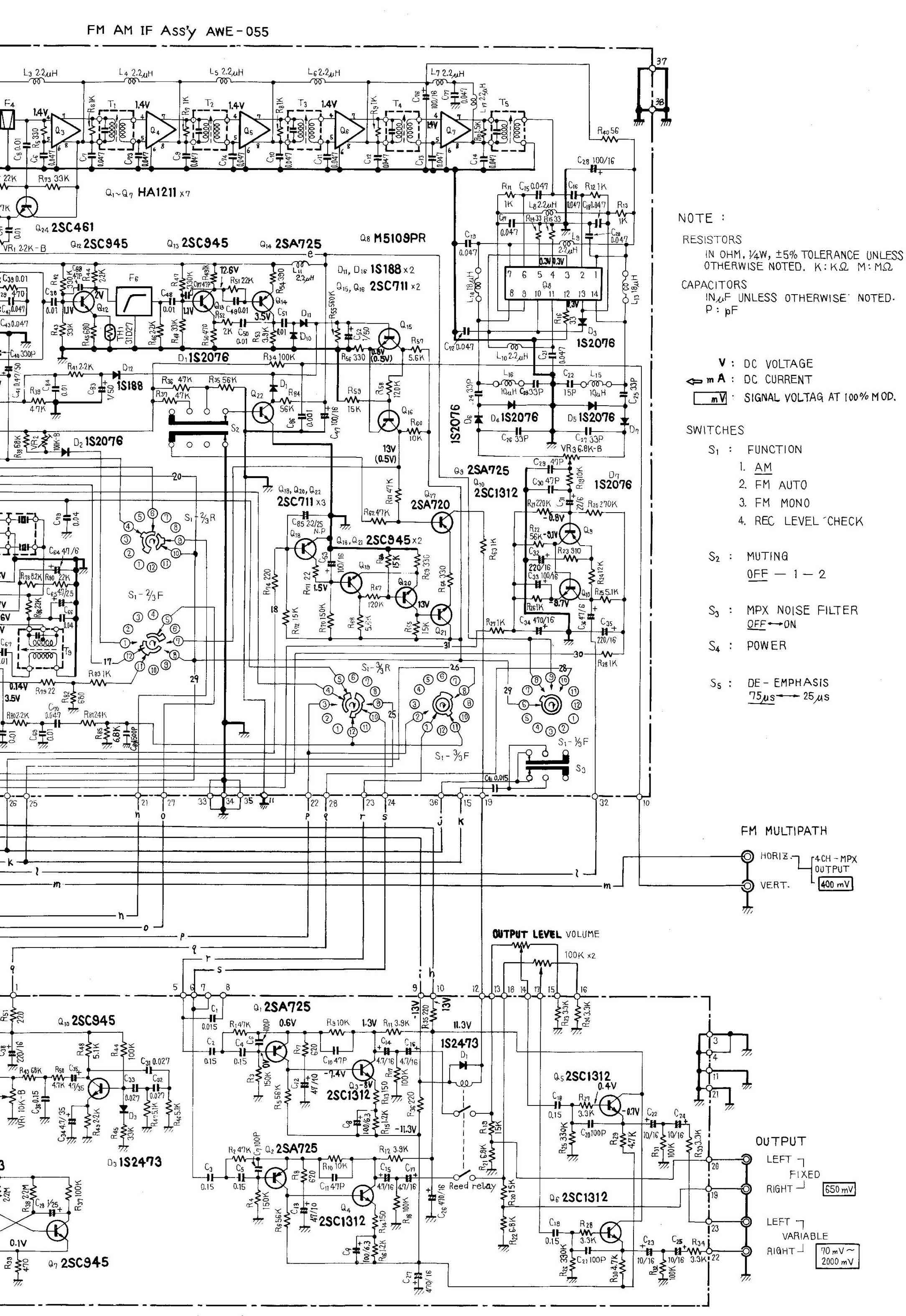 wiring diagram for a technics equalizer  diagrams  auto